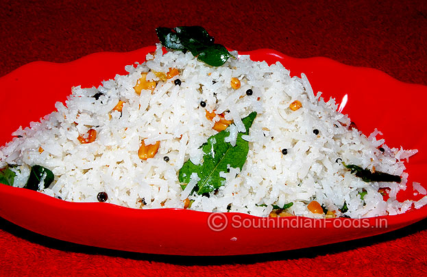 Coconut rice is ready to se