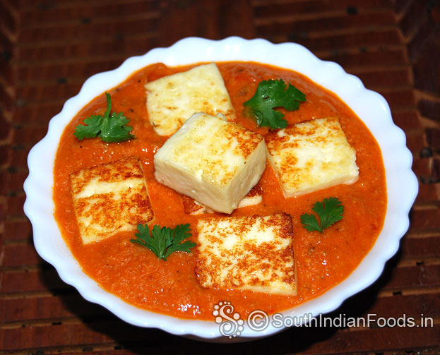 Paneer tomato gravy-Simple curry for chapatti & rice