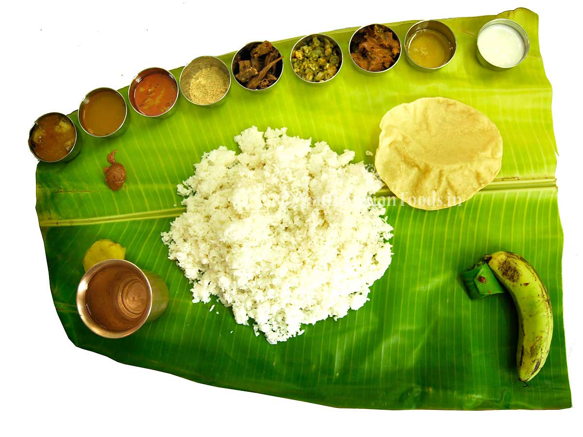 South Indian Meals South Indian Plantain Leaf Meals